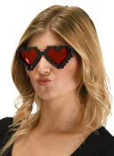 Pixel Hearts Glasses