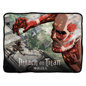 Attack on Titan Colossus Titan at the Wall Fleece Throw Blanket