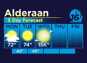 Alderaan 5 Day Forecast