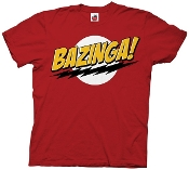BIG BANG THEORY BAZINGA RED