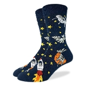 Cats in Space Socks