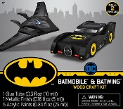BATMOBILE & BATWING BUILDABLE WOOD PAINT KIT